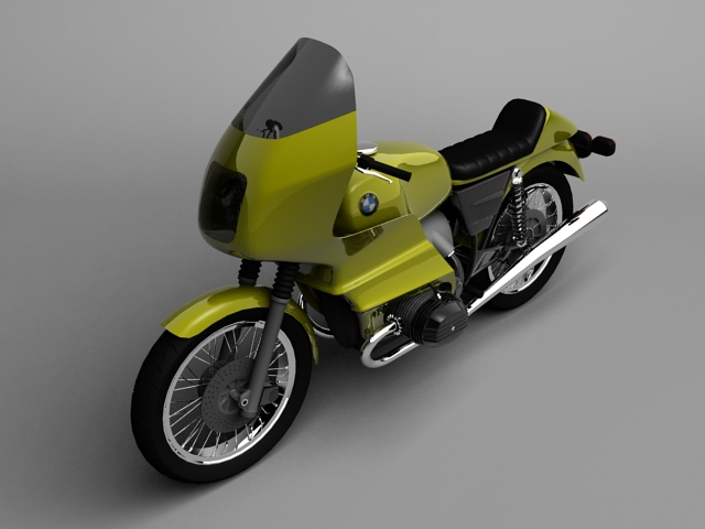 bmw r100 rs obilazak 1978 3d model 3ds max c4d obj 147674
