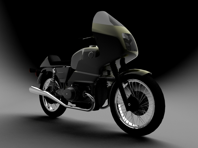 bmw r100 rs obilazak 1978 3d model 3ds max c4d obj 147675