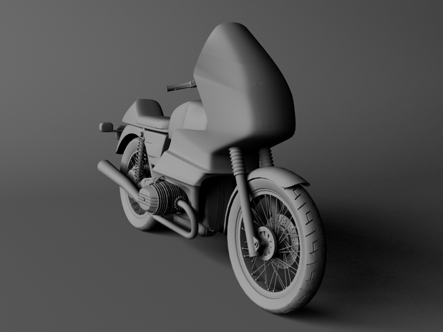 bmw r100 rs obilazak 1978 3d model 3ds max c4d obj 147679
