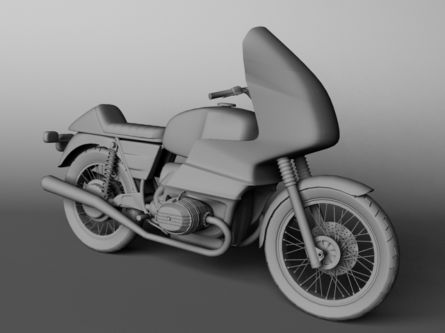 bmw r100 rs obilazak 1978 3d model 3ds max c4d obj 147680