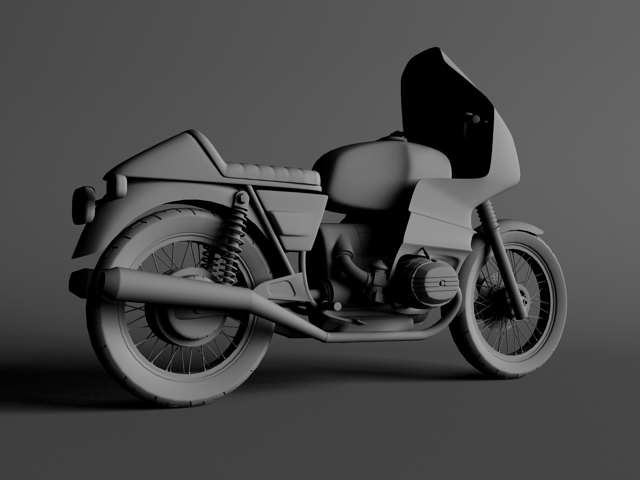 bmw r100 rs obilazak 1978 3d model 3ds max c4d obj 147681