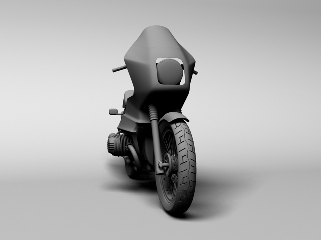 bmw r100 rs obilazak 1978 3d model 3ds max c4d obj 147683