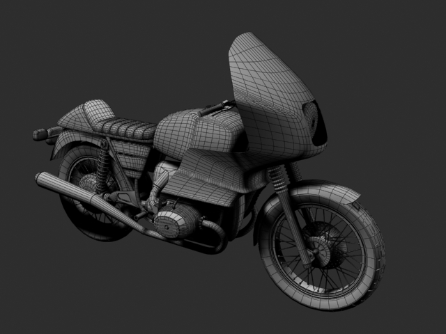 bmw r100 rs obilazak 1978 3d model 3ds max c4d obj 147684