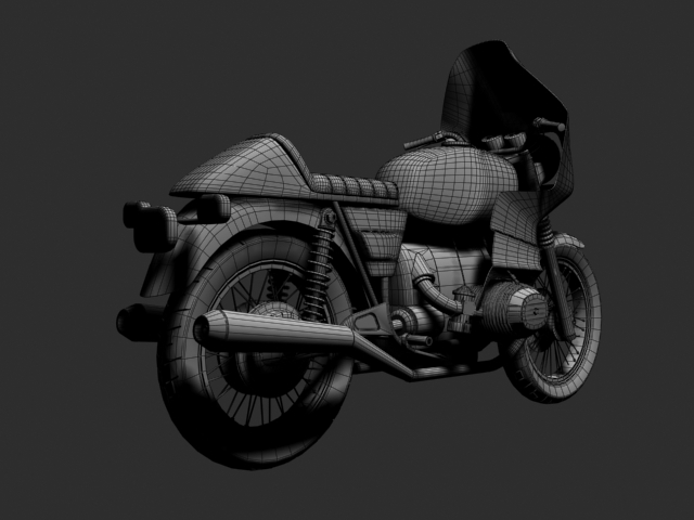 bmw r100 rs obilazak 1978 3d model 3ds max c4d obj 147685