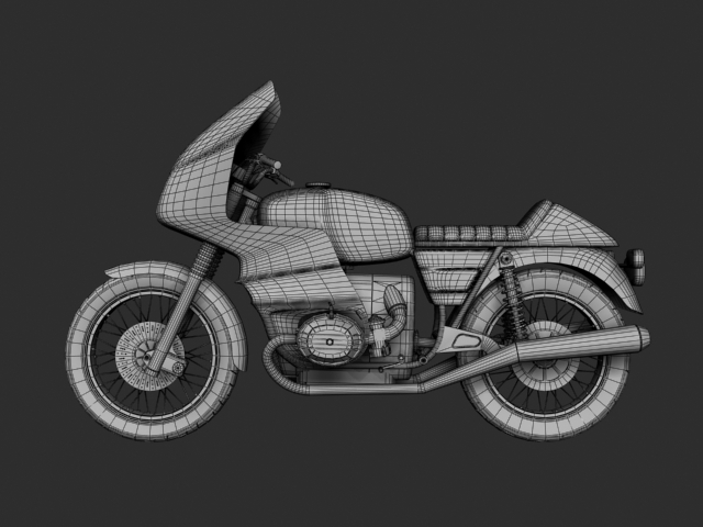 bmw r100 rs obilazak 1978 3d model 3ds max c4d obj 147686