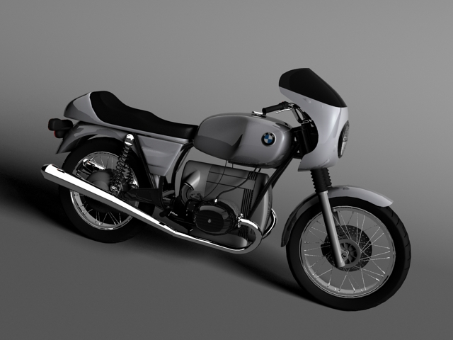 model bmw r100 s 1978 3d 3ds max c4d obj 147762