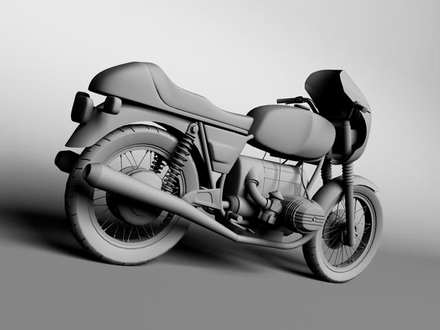 bmw r100 s 1978 3d model 3ds max c4d obj 147774
