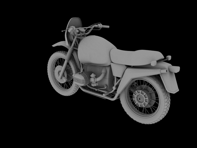 bmw r80 gs 3d model 3ds max c4d obj 148012
