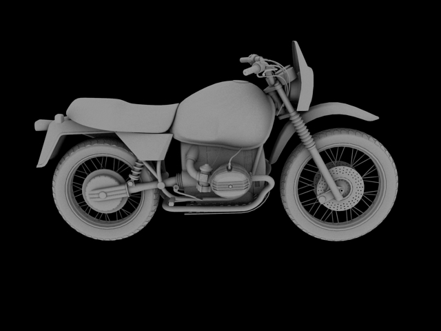 bmw r80 gs 3d model 3ds max c4d obj 148015