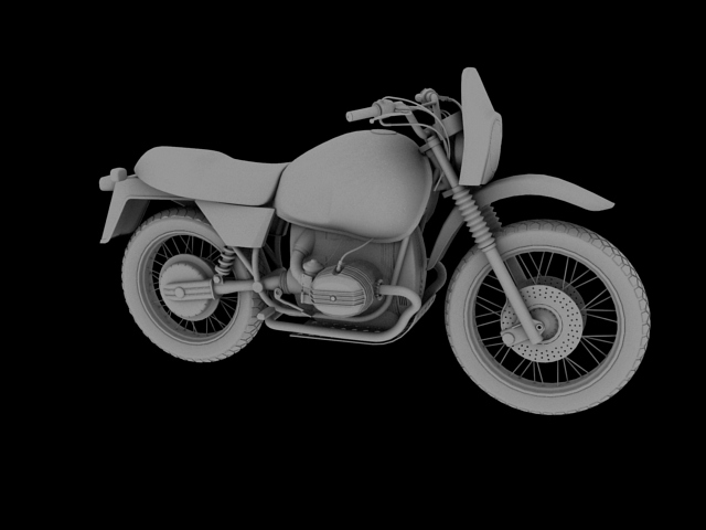 bmw r80 gs 3d model 3ds max c4d obj 148016