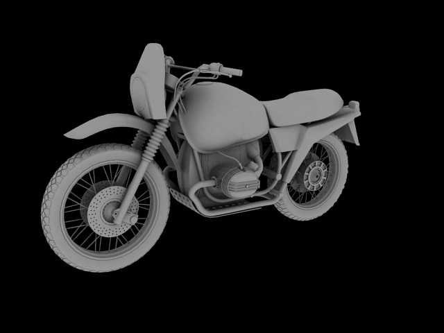 bmw r80 gs 3d model 3ds max c4d obj 148017