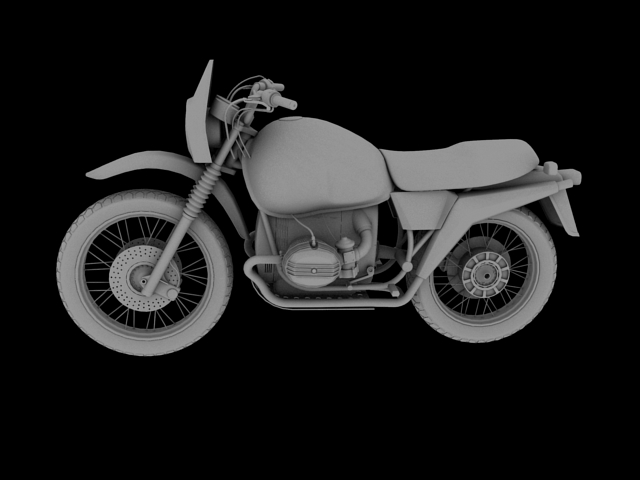 bmw r80 gs 3d model 3ds max c4d obj 148018