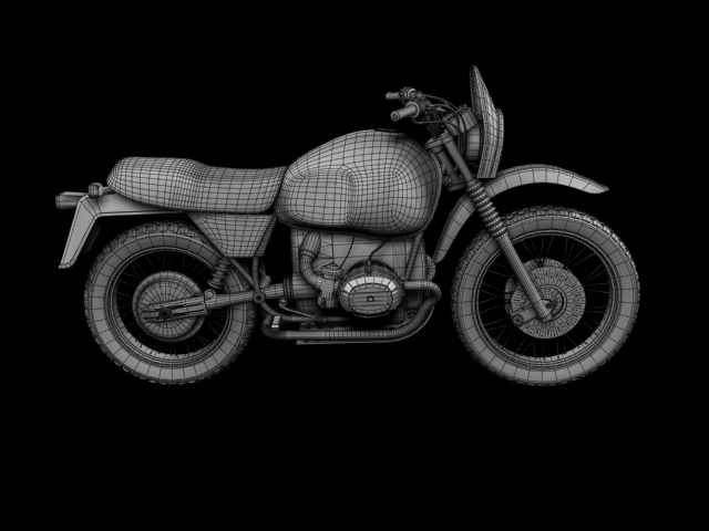 bmw r80 gs 3d model 3ds max c4d obj 148019