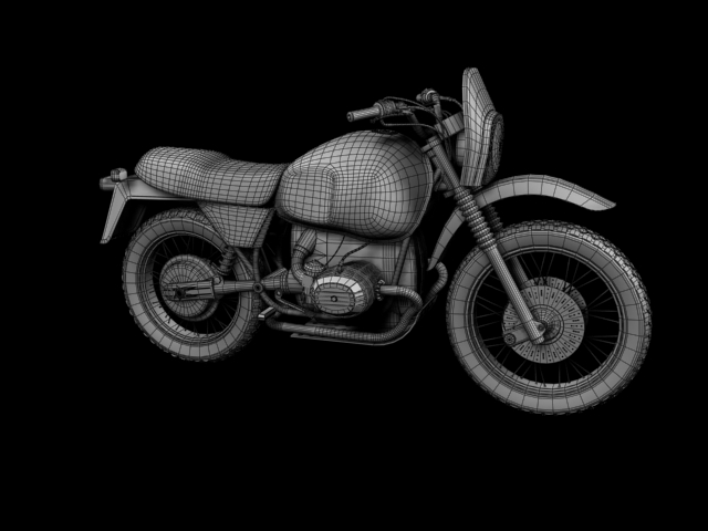 bmw r80 gs 3d model 3ds max c4d obj 148020