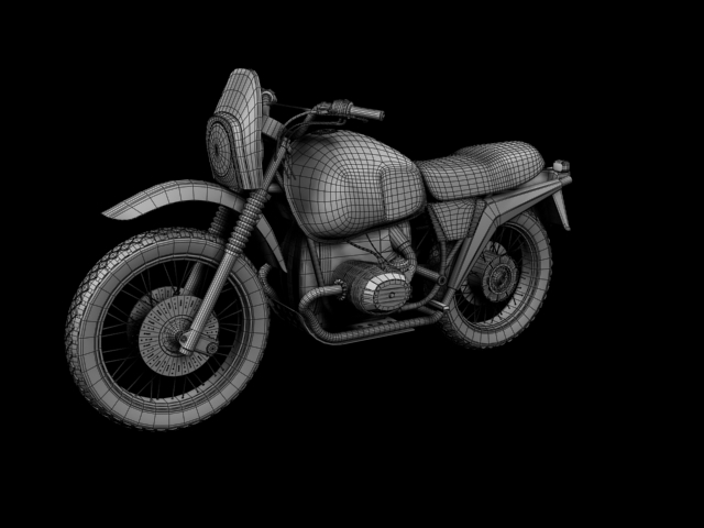 bmw r80 gs 3d model 3ds max c4d obj 148021