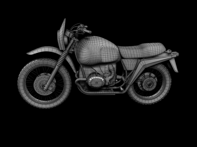 bmw r80 gs 3d model 3ds max c4d obj 148022