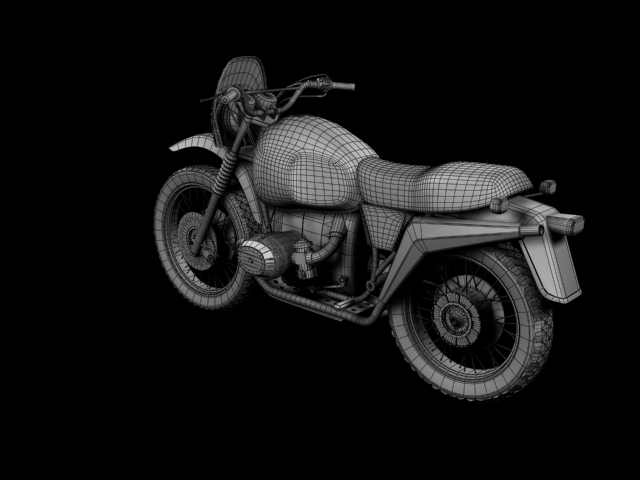 bmw r80 gs 3d model 3ds max c4d obj 148023