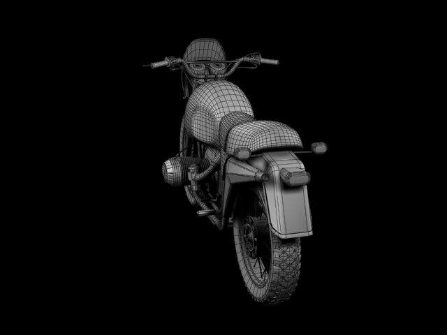 bmw r80 gs 3d model 3ds max c4d obj 148024