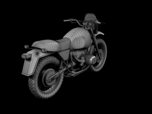 bmw r80 gs 3d model 3ds max c4d obj 148025