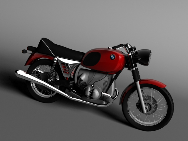 bmw r90 1972 3d model 3ds max c4d obj 147827