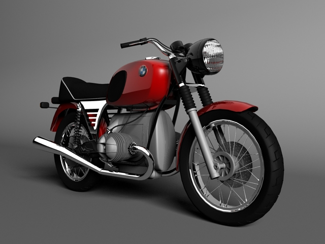 bmw r90 1972 3d model 3ds max c4d obj 147828