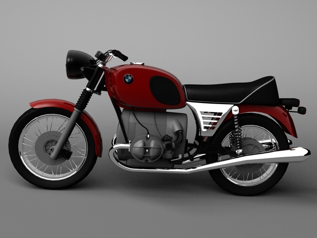 bmw r90 1972 3d model 3ds max c4d obj 147829