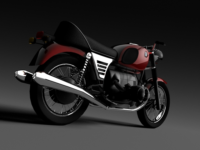 bmw r90 1972 3d model 3ds max c4d obj 147831