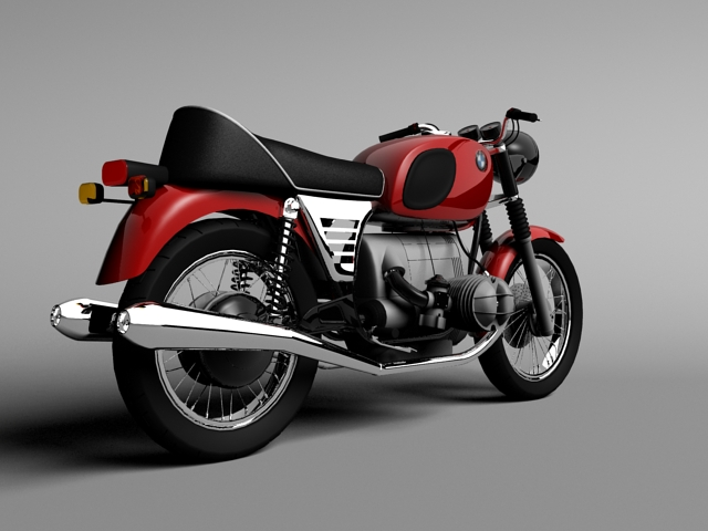 bmw r90 1972 3d model 3ds max c4d obj 147832