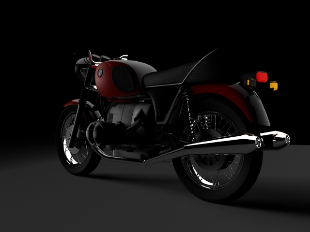 bmw r90 1972 3d model 3ds max c4d obj 147834
