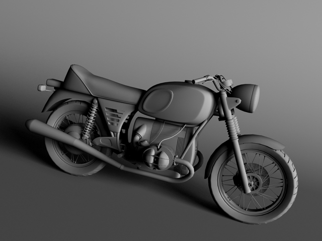 bmw r90 1972 3d model 3ds max c4d obj 147835