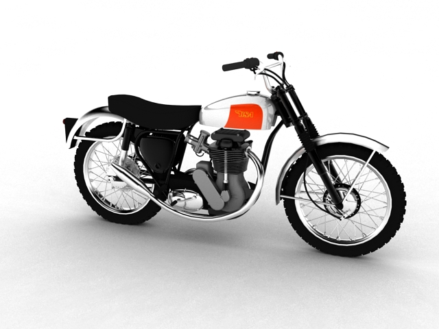 bsa b44 'pobjednik enduro' 1966 3d model 3ds max c4d obj 152015