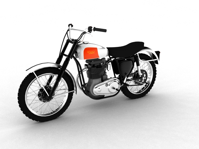 bsa b44 'pobjednik enduro' 1966 3d model 3ds max c4d obj 152016
