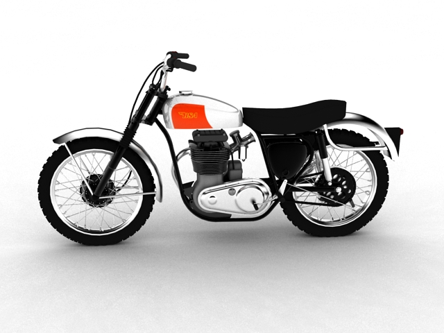 bsa b44 'pobjednik enduro' 1966 3d model 3ds max c4d obj 152017