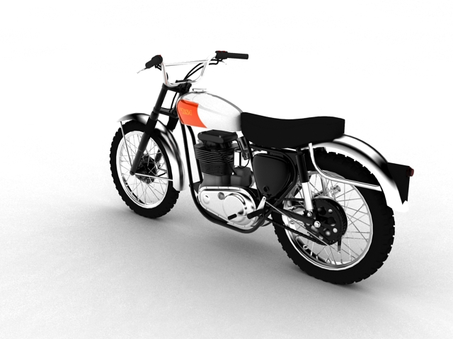 bsa b44 'pobjednik enduro' 1966 3d model 3ds max c4d obj 152018