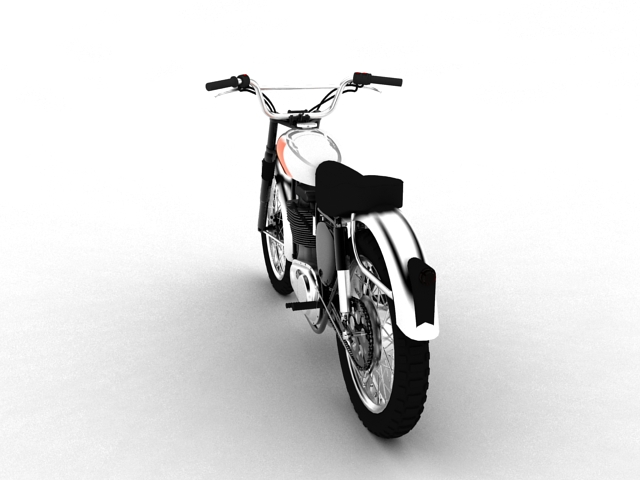 bsa b44 'pobjednik enduro' 1966 3d model 3ds max c4d obj 152019