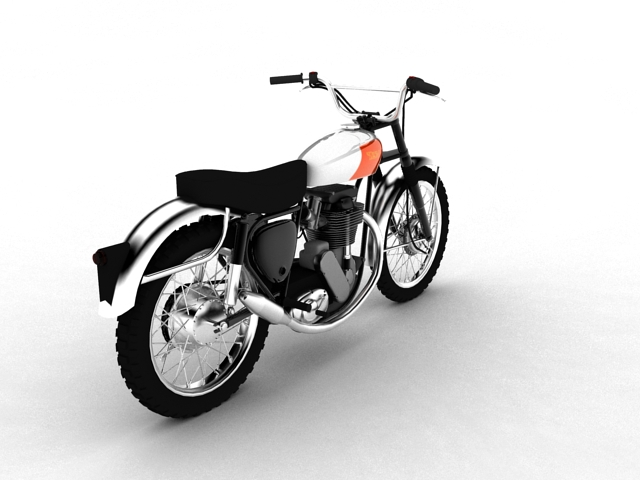 bsa b44 'pobjednik enduro' 1966 3d model 3ds max c4d obj 152020