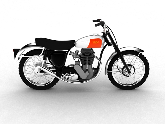 bsa b44 'pobjednik enduro' 1966 3d model 3ds max c4d obj 152021