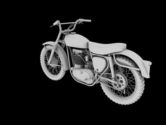 bsa b44 'pobjednik enduro' 1966 3d model 3ds max c4d obj 152022