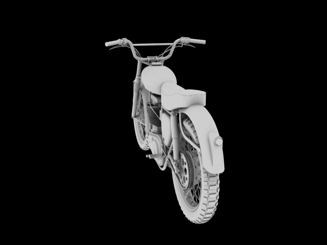 bsa b44 'pobjednik enduro' 1966 3d model 3ds max c4d obj 152023