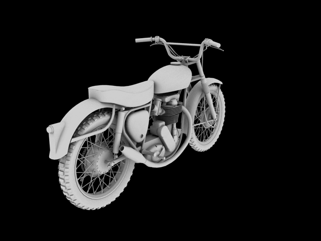 bsa b44 'pobjednik enduro' 1966 3d model 3ds max c4d obj 152024