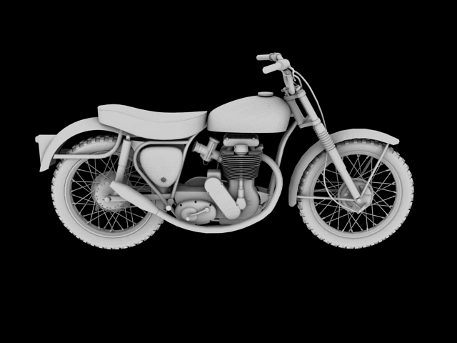 bsa b44 'pobjednik enduro' 1966 3d model 3ds max c4d obj 152025