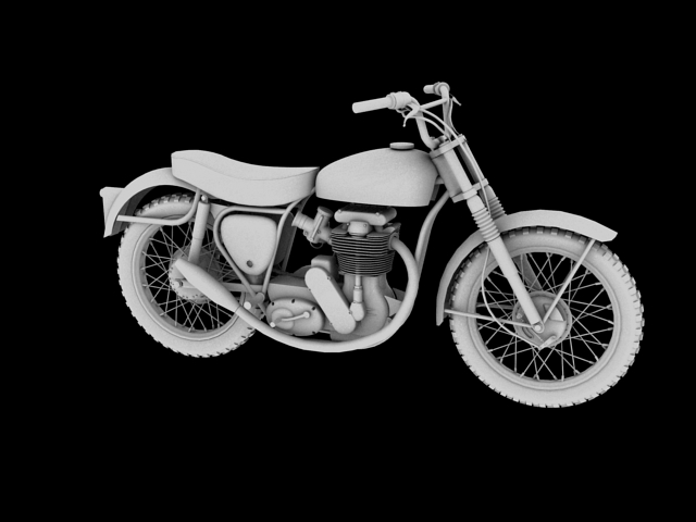 bsa b44 'pobjednik enduro' 1966 3d model 3ds max c4d obj 152026