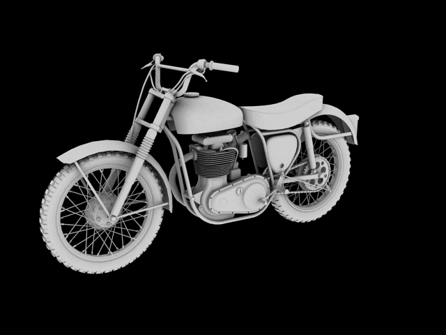 bsa b44 'pobjednik enduro' 1966 3d model 3ds max c4d obj 152027