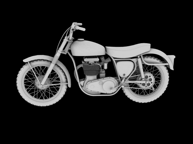 bsa b44 'pobjednik enduro' 1966 3d model 3ds max c4d obj 152028