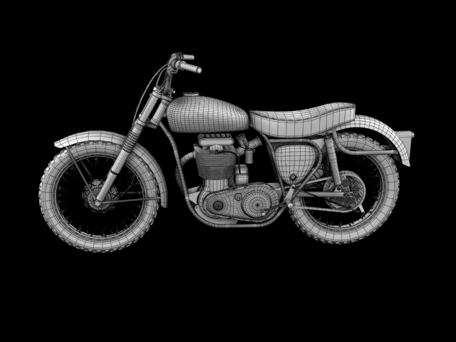 bsa b44 'pobjednik enduro' 1966 3d model 3ds max c4d obj 152029