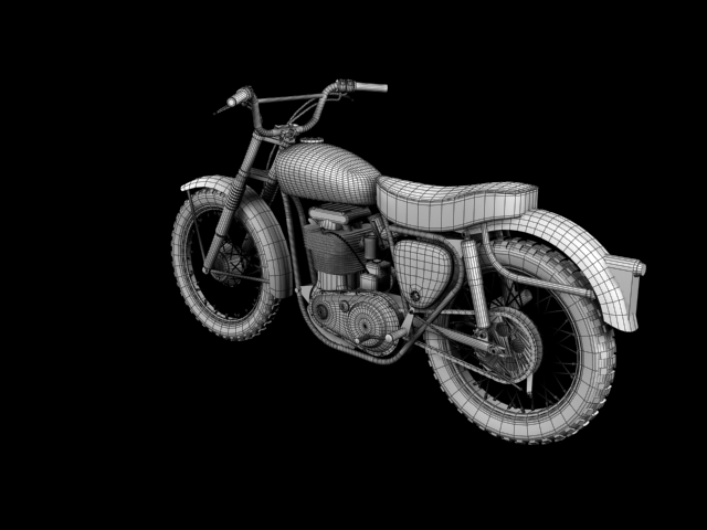 bsa b44 'pobjednik enduro' 1966 3d model 3ds max c4d obj 152030