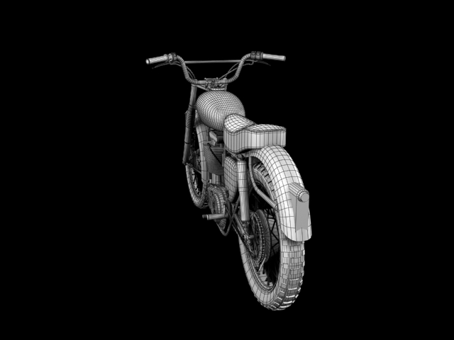 bsa b44 'pobjednik enduro' 1966 3d model 3ds max c4d obj 152031