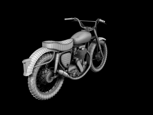bsa b44 'pobjednik enduro' 1966 3d model 3ds max c4d obj 152032