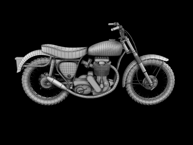 bsa b44 'pobjednik enduro' 1966 3d model 3ds max c4d obj 152033