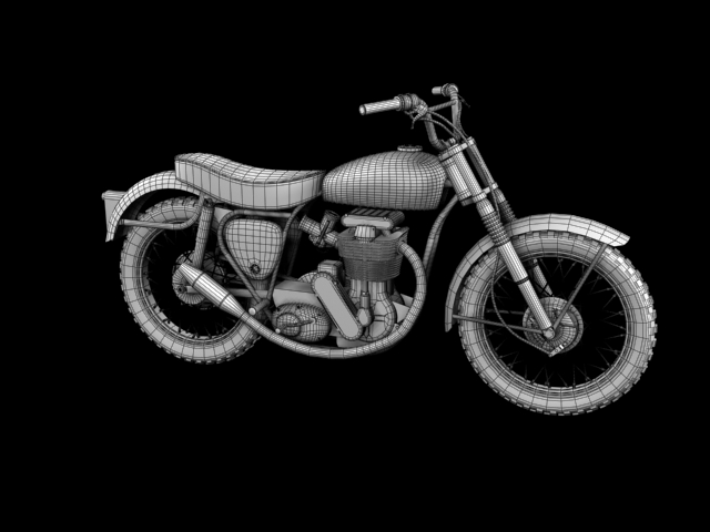 bsa b44 'pobjednik enduro' 1966 3d model 3ds max c4d obj 152034